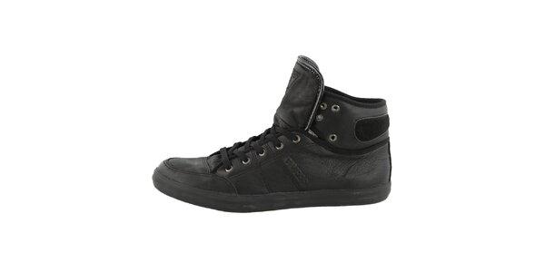 Pánské černé kotníkové boty Guess