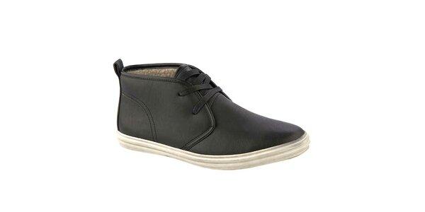 Pánské černé kotníkové boty s vlněným interiérem Crosby