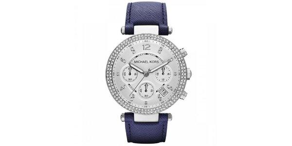 Dámské hodinky s koženým řemínkem Michael Kors