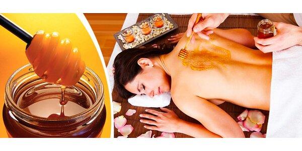 Detoxikační medová masáž zad a šíje včetně medového zábalu 60 minut