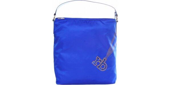 Dámská zářivě modrá nylonová kabelka Roccobarocco