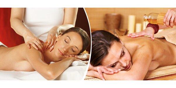 Regenerační tělová masáž zakončená antistresovou masáží hlavy