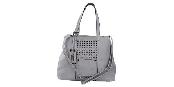 Dámská šedá kabelka s perforací Bessie