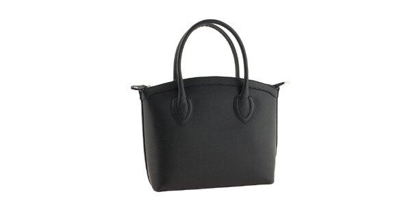 Dámská černá kožená kabelka Classe Regina