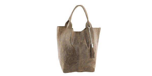 Dámská kožená kabelka se střapcem Classe Regina