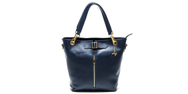 Dámská modrá kabelka se zipem Luisa Vannini
