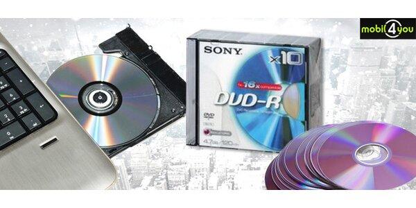 Média SONY DVD-R včetně obalu