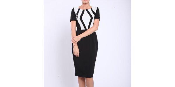 Dámské černobílé pouzdrové šaty Melli London