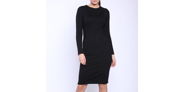 Dámské černé šaty s dlouhými rukávy Melli London