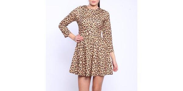 Dámské šaty s leopardím vzorem Melli London