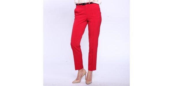 Dámské červené kalhoty s puky Melli London