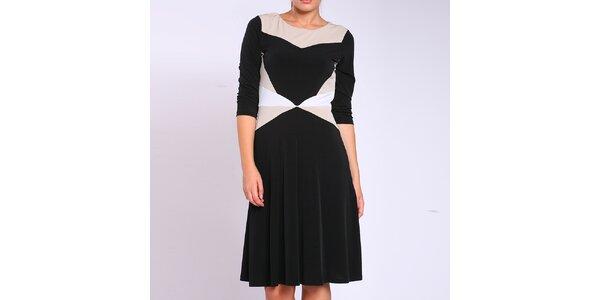 Dámské černo-béžovo-bílé šaty Melli London