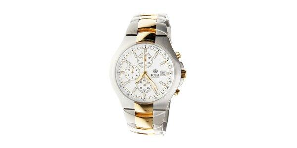 Pánské titanové hodinky Royal London se zlatými detaily