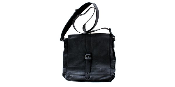 Unisex černá kabelka přes rameno Levi's s přezkou