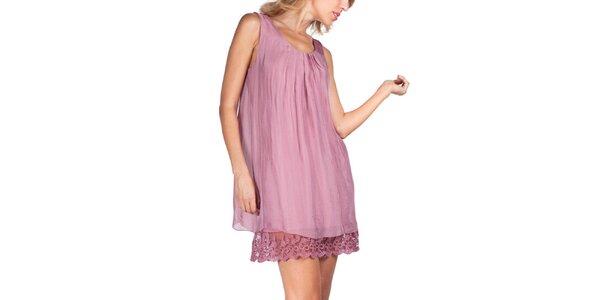Dámské růžové šaty bez rukávů Sixie