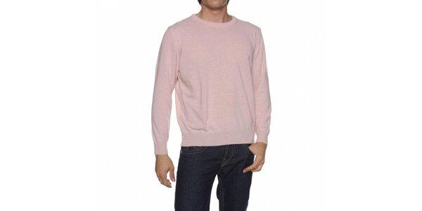 Pánský světle růžový svetr Mario Valentino