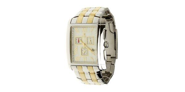 Pánské ocelové hodinky Royal London se zlatými detaily