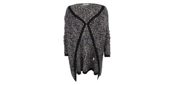 Dámský delší svetr s černým lemováním Beauty Women
