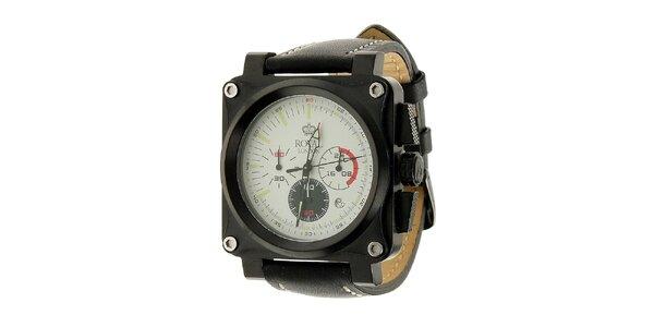 Pánské černé hodinky Royal London