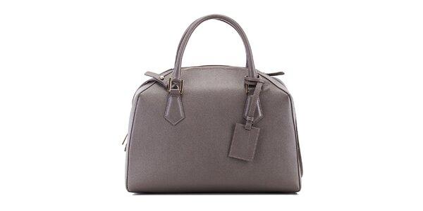 Dámská šedá kožená kabelka Belle & Bloom