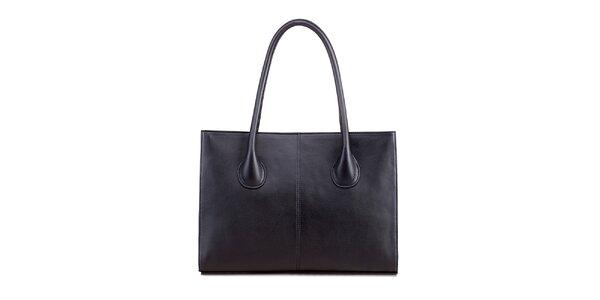Dámská černá kožená obdélníková kabelka Belle & Bloom