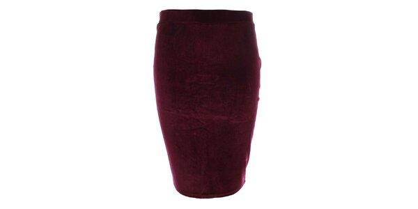 Dámská bordó pouzdrová sukně do pasu Leggsington