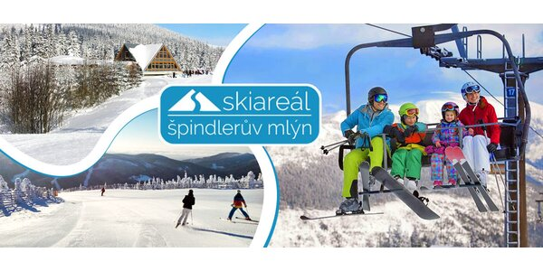 Lyžování ve všední den ve skiareálu Špindlerův Mlýn včetně nápoje