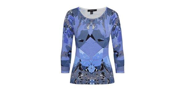 Dámský vzorovaný svetr v modré barvě Imagini
