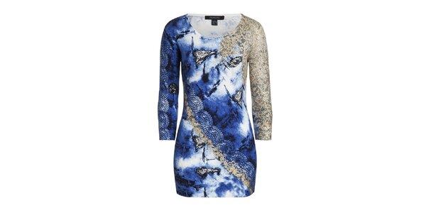 Dámský modrý svetr se vzorem Imagini
