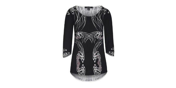 Dámský černý svetr s bílým vzorem Imagini