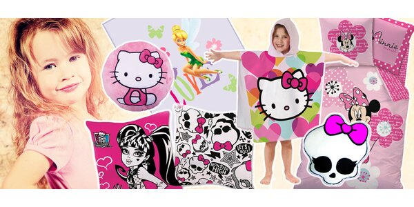 Doplňky s Minnie, Hello Kitty a Monster High