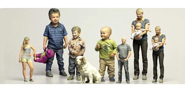 3D reálná Busta - Působivé zachycení okamžiku vaší reálné postavy pomocí 3D…