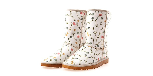 Dámské boty s barevnými kvítky Elite Goby