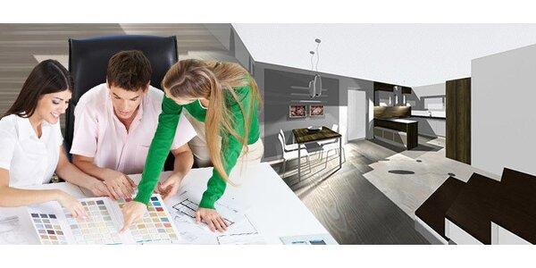 3D návrh interiéru pro hezčí bydlení