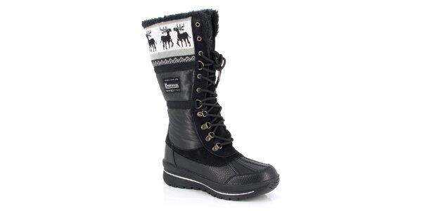 Dámské černé boty s kožíškem Kimberfeel