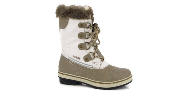 Dámské bílé boty s béžovými detaily Kimberfeel