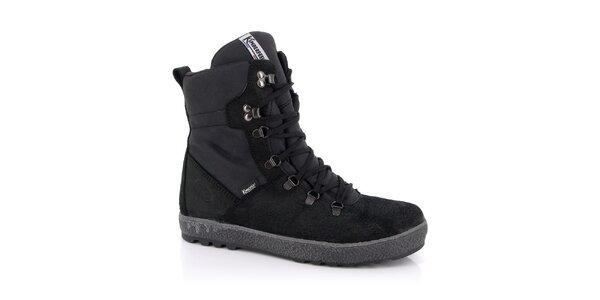 Pánské černé šněrovací boty Kimberfeel