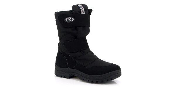 Pánské černé vysoké boty Kimberfeel