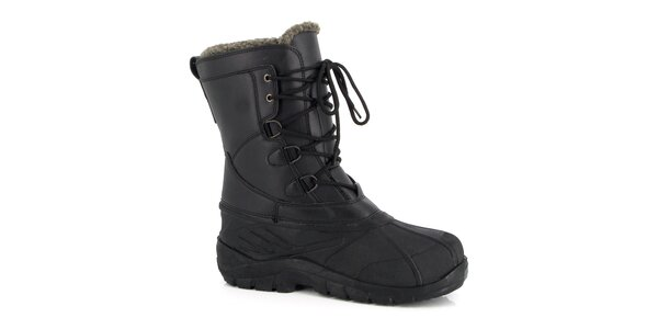 Černé zimní boty Kimberfeel