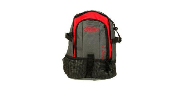 Červeno-šedý batoh Kimberfeel