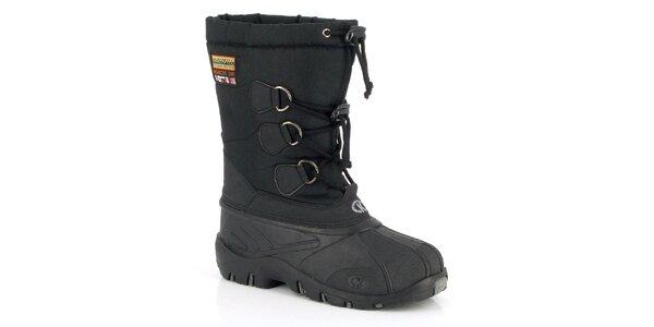 Unisex černé zimní boty Kimberfeel
