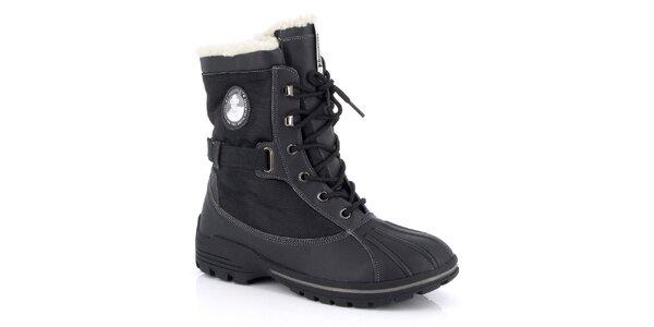 Pánské černé šněrovací zimní boty Kimberfeel