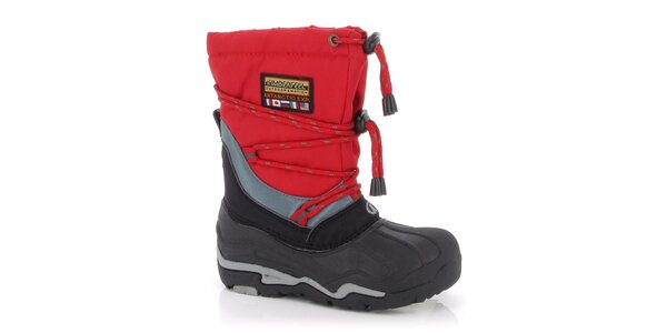 Zimní boty Kimberfeel - červené
