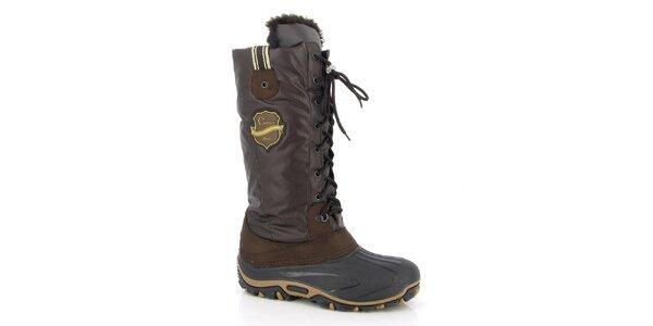 Dámské hnědé zimní boty Kimberfeel