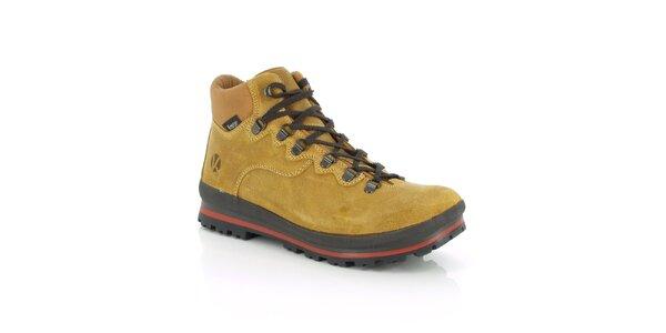 Pánské zimní vodotěsné béžové boty Kimberfeel