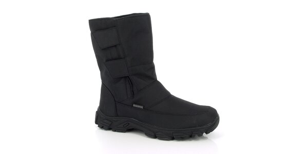 Pánské zimní vyšší černé boty Kimberfeel