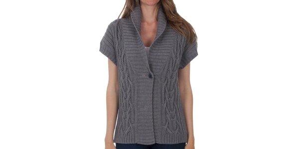 Dámský šedý svetr s krátkými rukávy Tommy Hilfiger