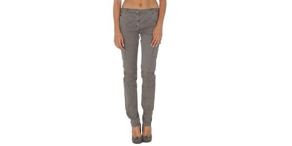 Dámské šedé kalhoty s kapsami Tommy Hilfiger