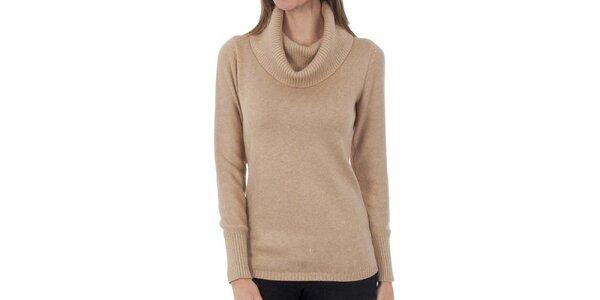 Dámský béžový svetr s límcem Tommy Hilfiger