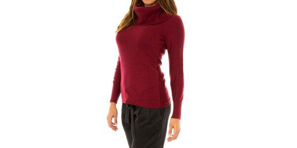 Dámský červený svetr s límcem Tommy Hilfiger